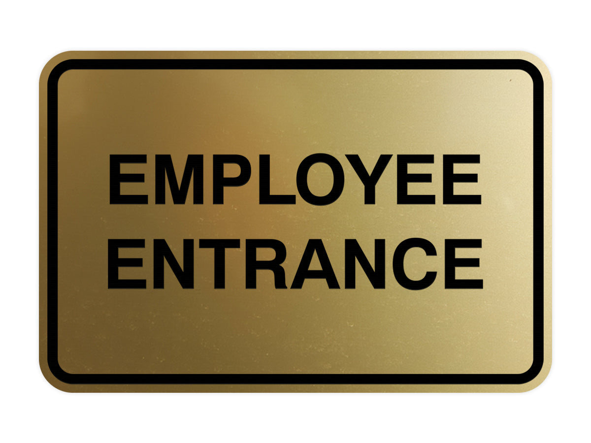Signs ByLITA Classic Framed Employee Entrance Sign