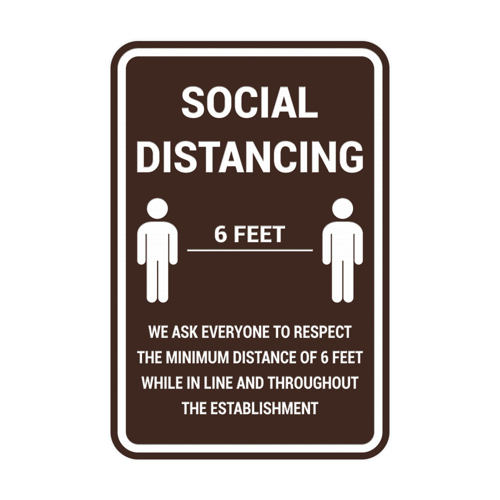 Portrait Round Social Distancing Sign