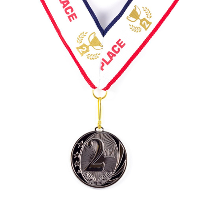 2nd Place MidNite Star Silver Medal Award - Includes Ribbon