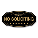 Victorian No Soliciting Sign