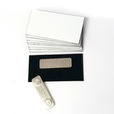 "Name Badge Blanks with Magnet - 10 Pack White 1.5"" X 3"""