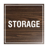 Walnut Signs ByLITA Square Storage Sign
