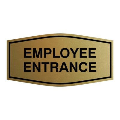 Fancy Employee Entrance Sign - Wall/Door Sign