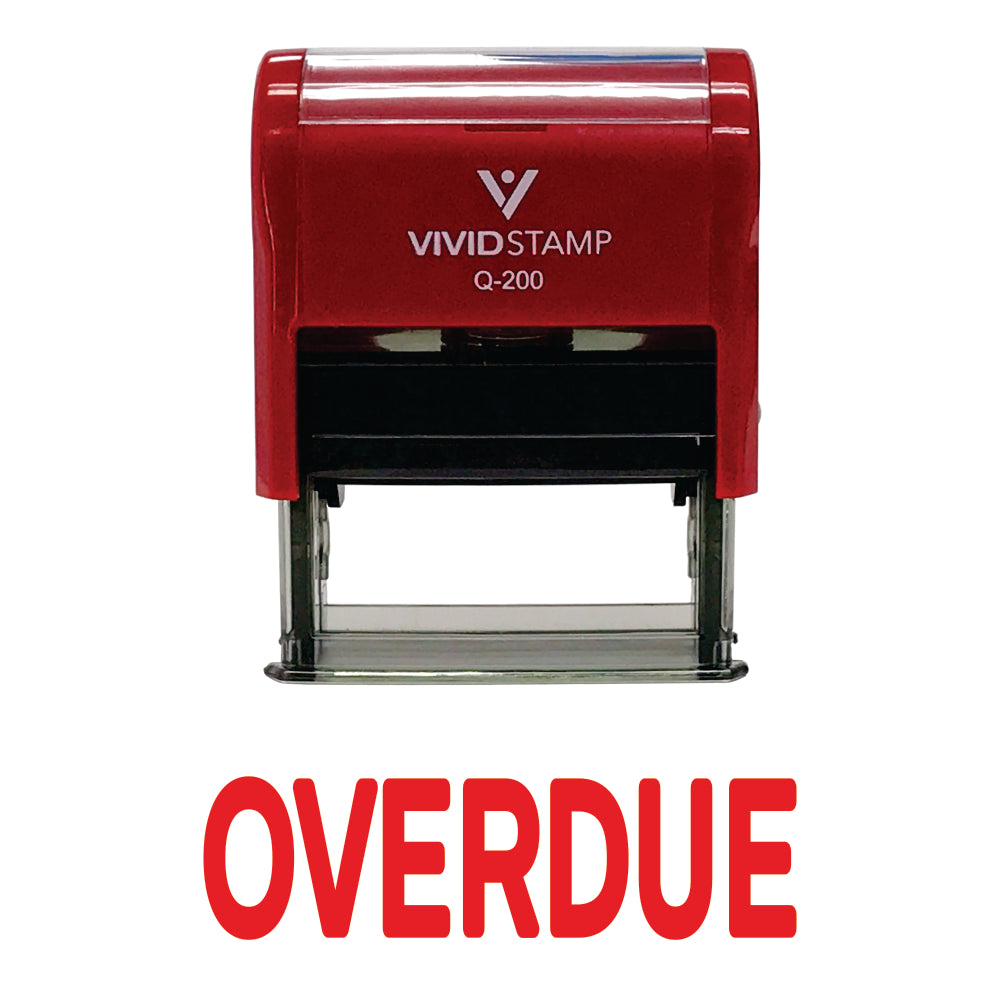 Overdue Self Inking Rubber Stamp