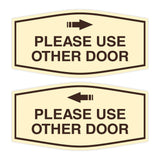 Signs ByLITA Fancy Please Use Other Door Sign Set