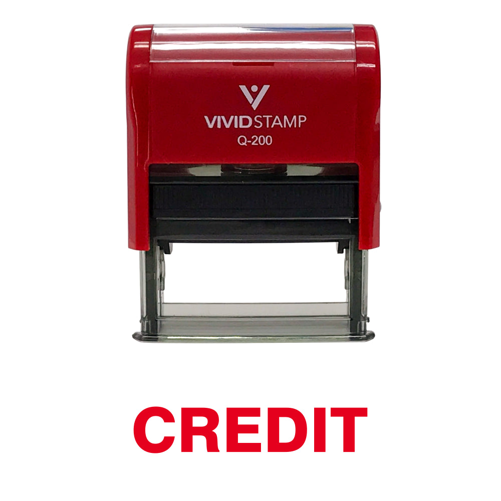 Credit Self Inking Rubber Stamp