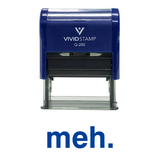 Blue MEH Self Inking Rubber Stamp