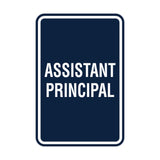 Portrait Round Assistant Principal Sign