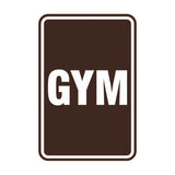 Portrait Round Gym Sign
