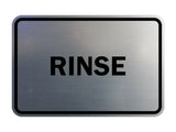 Signs ByLITA Classic Framed Rinse Sign