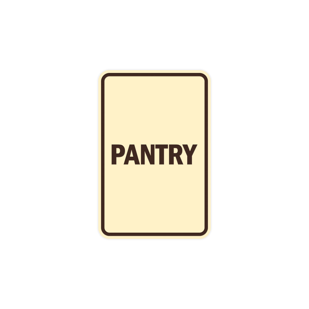 Portrait Round Pantry Sign