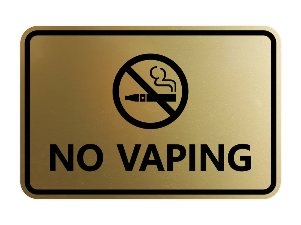Signs ByLITA Classic Framed No Vaping