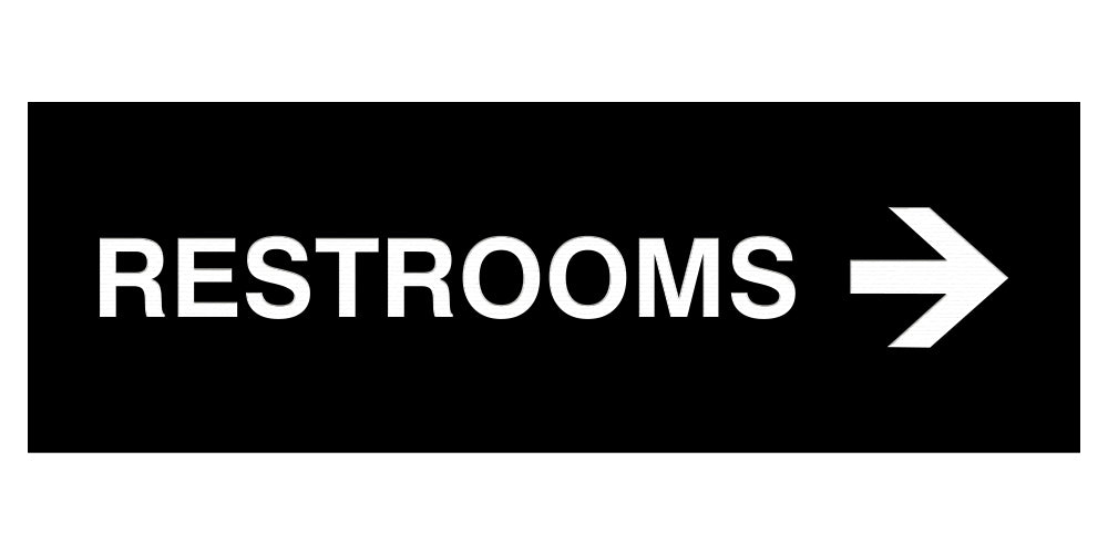 Signs ByLITA Basic Restrooms Right Arrow Directional Sign