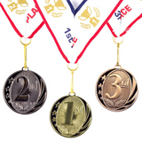 1st 2nd 3rd Place MidNite Star Award Medals-3 Piece Set (Gold, Silver, Bronze) Includes Neck Ribbon