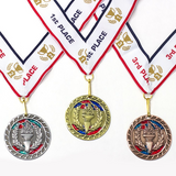 1st 2nd 3rd Place Victory Award Medals - 3 Piece Set (Gold, Silver, Bronze) Includes Ribbon