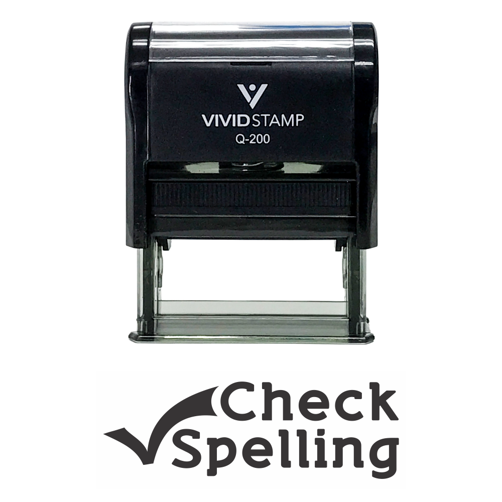 CHECK SPELLING Teacher Self Inking Rubber Stamp