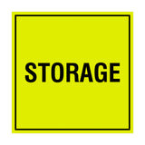 Yellow / Black Signs ByLITA Square Storage Sign