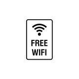 Portrait Round Free WiFi Sign with Adhesive Tape, Mounts On Any Surface, Weather Resistant