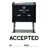 ACCEPTED By Date Self Inking Rubber Stamp