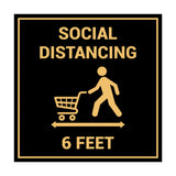 Signs ByLITA Square Social Distancing 6 Feet Sign