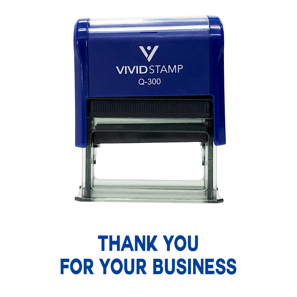 Blue THANK YOU FOR YOUR BUSINESS Self Inking Rubber Stamp