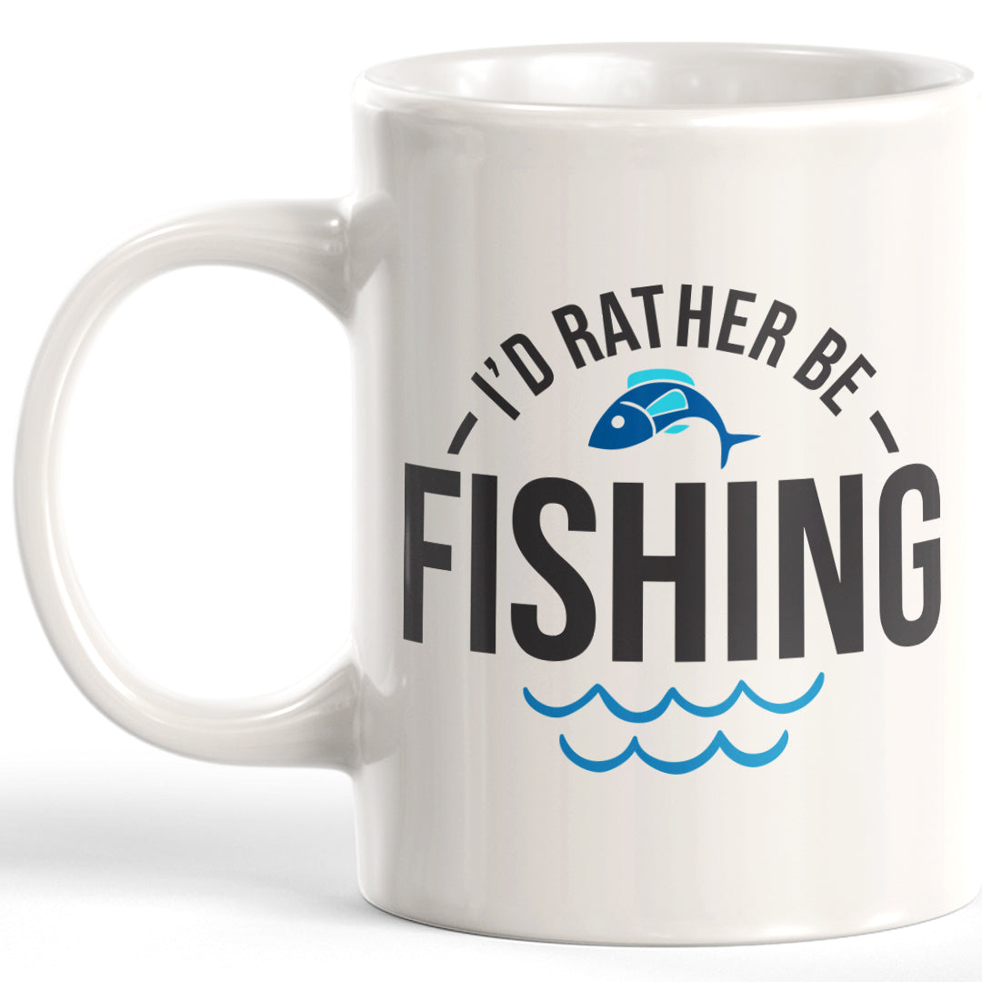 I'd Rather Be Fishing 11oz Coffee Mug - Funny Novelty Souvenir