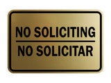 Signs ByLITA Classic Framed No Soliciting No Solicitar Sign