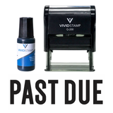 Classic Past Due Self Inking Rubber Stamp Combo with Refill