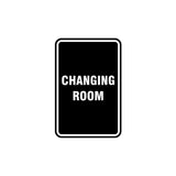 Portrait Round Changing Room Sign