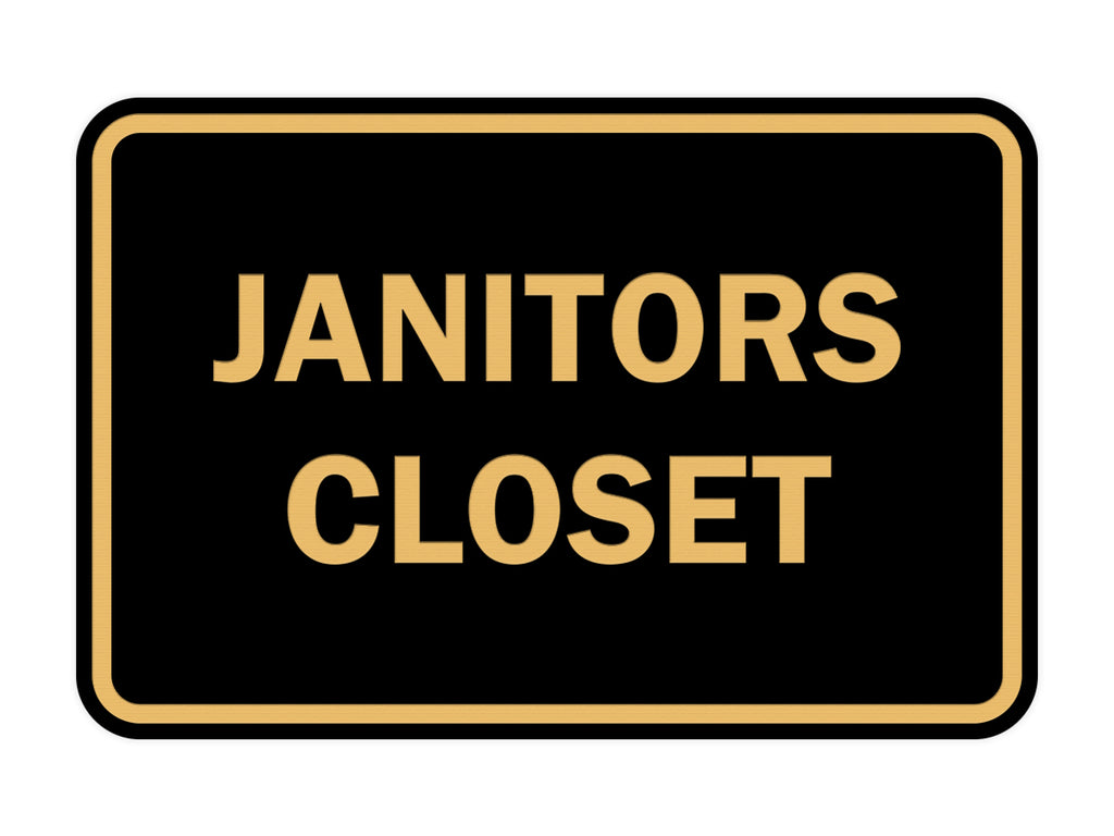 Signs ByLITA Classic Framed Janitors Closet