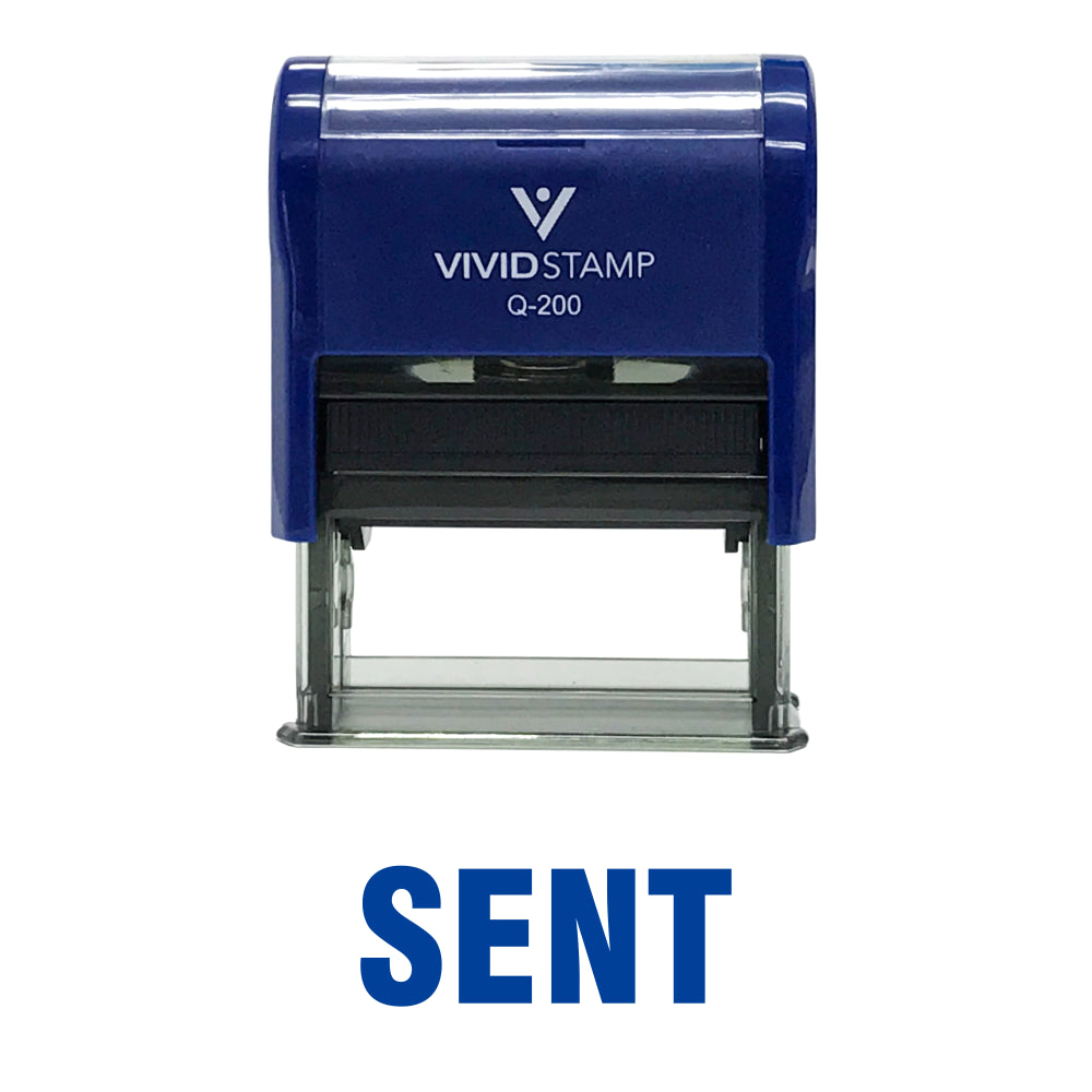 SENT Self Inking Rubber Stamp