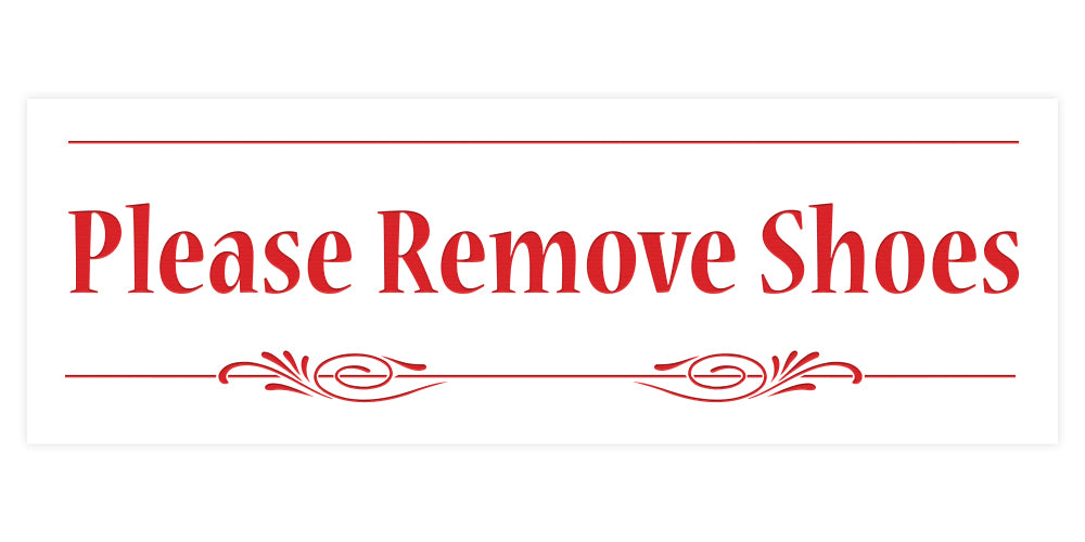Decorative Please Remove Shoes Door / Wall Sign