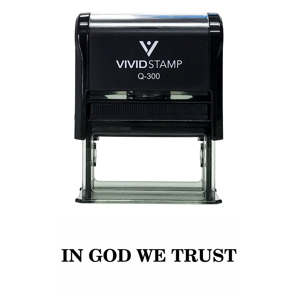 Black In God We Trust Self Inking Rubber Stamp