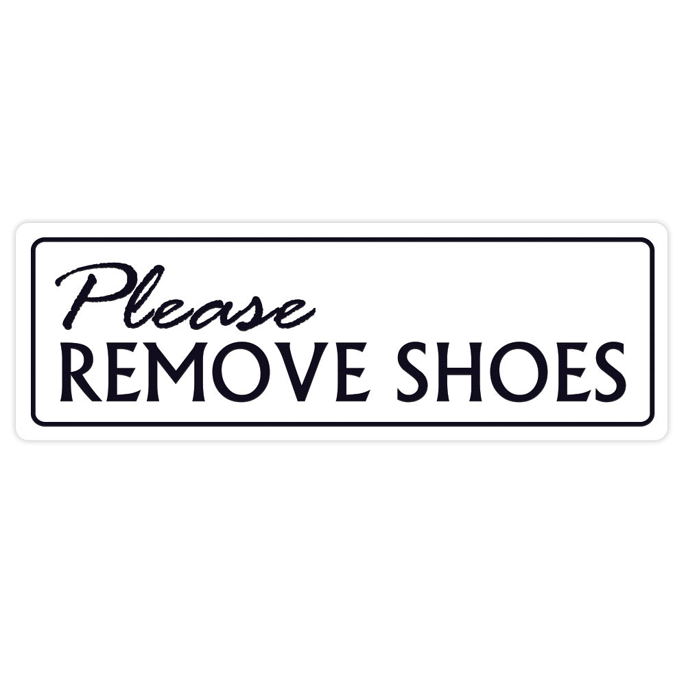 Standard Please Remove Shoes Wall Door Sign