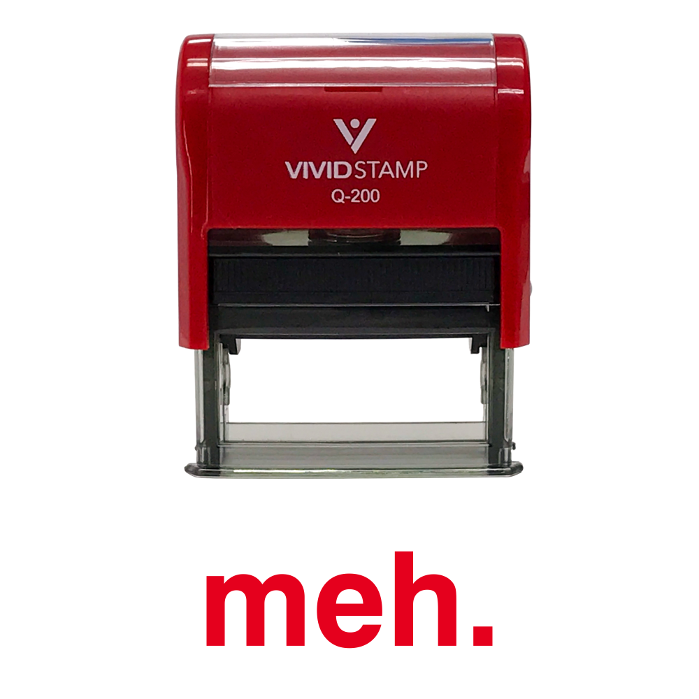 Red MEH Self Inking Rubber Stamp