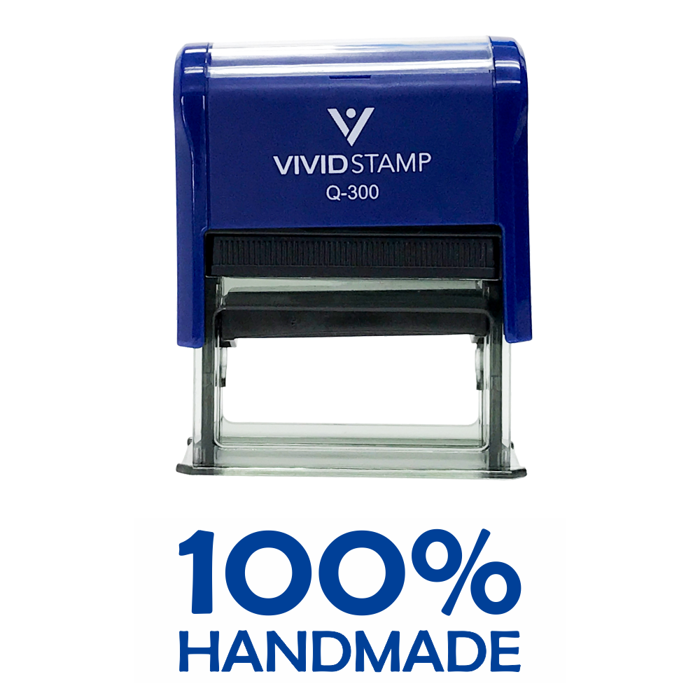 100% Handmade Self Inking Rubber Stamp