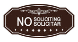 Signs ByLITA Victorian No Soliciting No Solicitar Sign