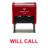 WILL CALL Self Inking Rubber Stamp