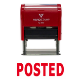 Red POSTED Self Inking Rubber Stamp