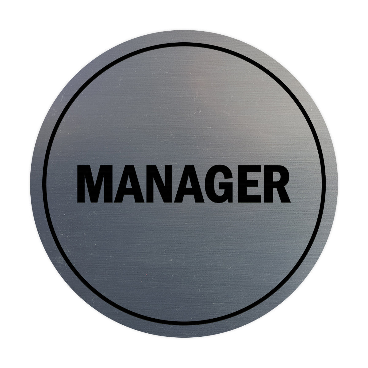 Signs ByLITA Circle Manager Sign