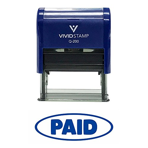 Paid W/Oval Border Office Self-Inking Office Rubber Stamp