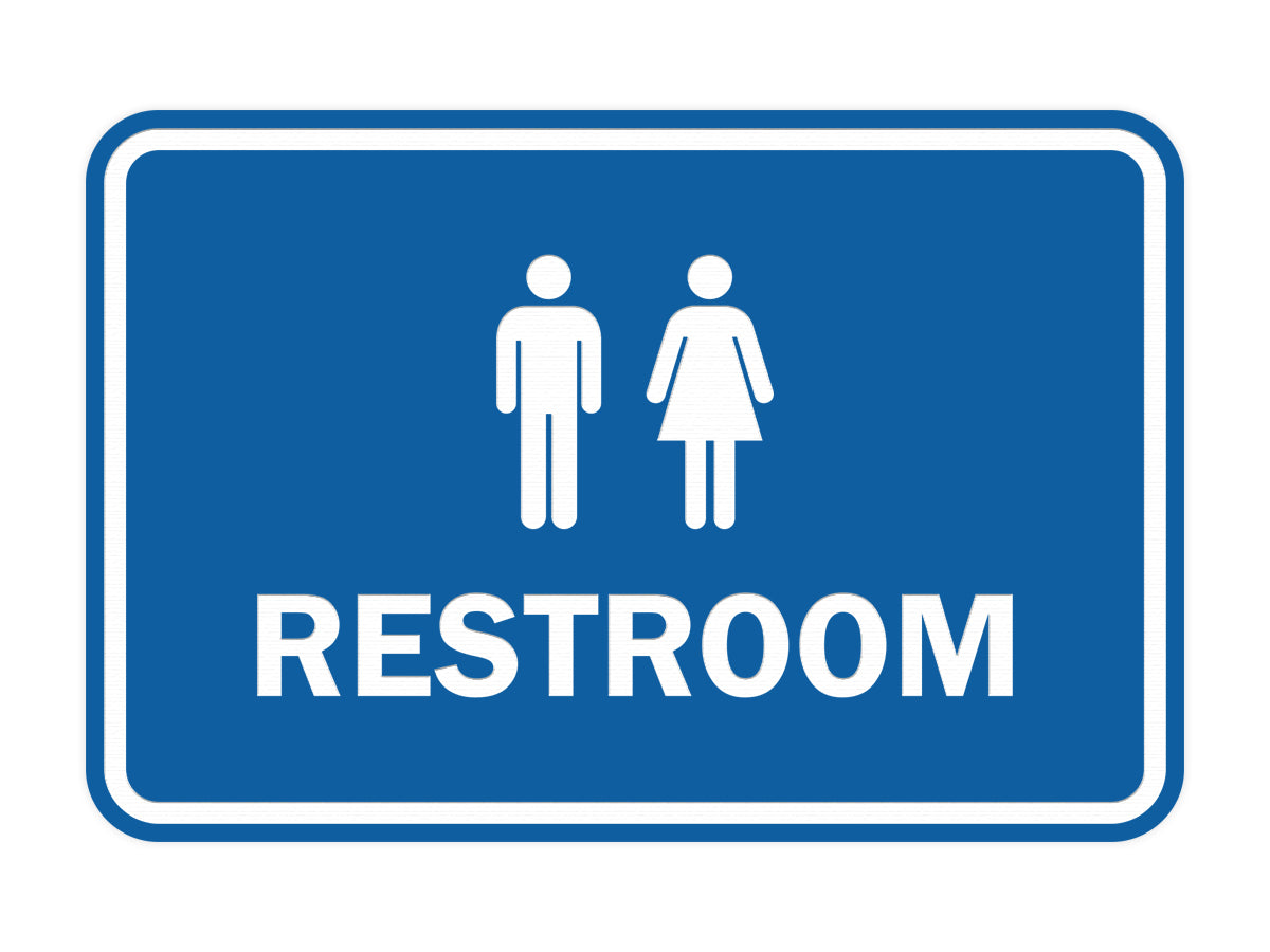 Signs ByLITA Classic Framed Unisex Restroom Sign