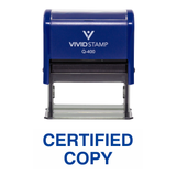 Blue  CERTIFIED COPY Self Inking Rubber Stamp