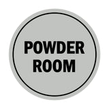 Signs ByLITA Circle Powder Room Sign