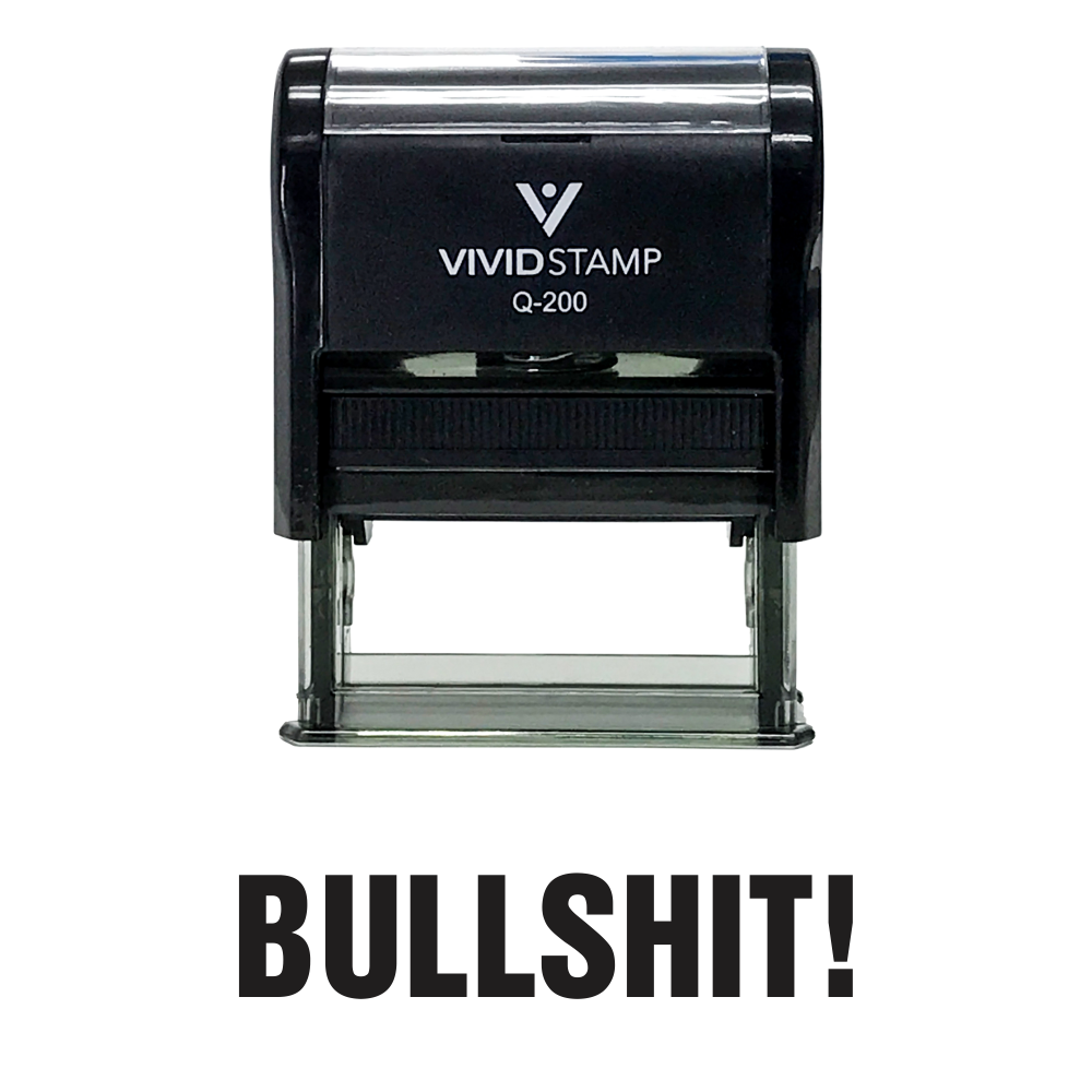 Black  BULLSHIT! Self Inking Rubber Stamp