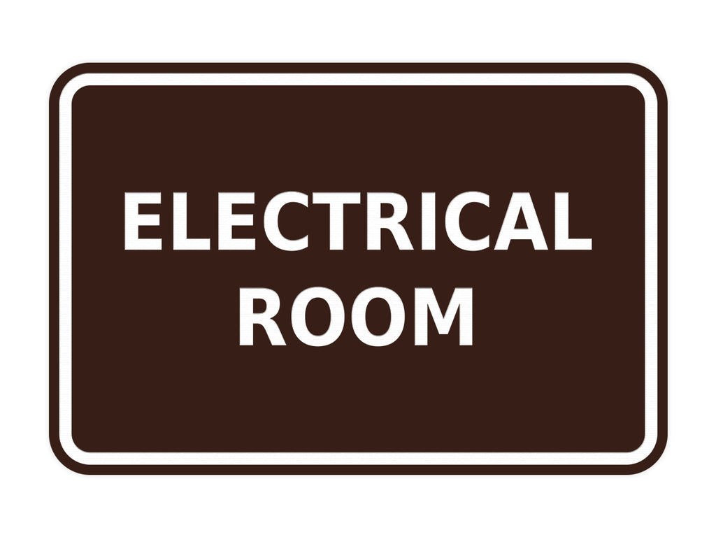 Signs ByLITA Classic Framed Electrical Room