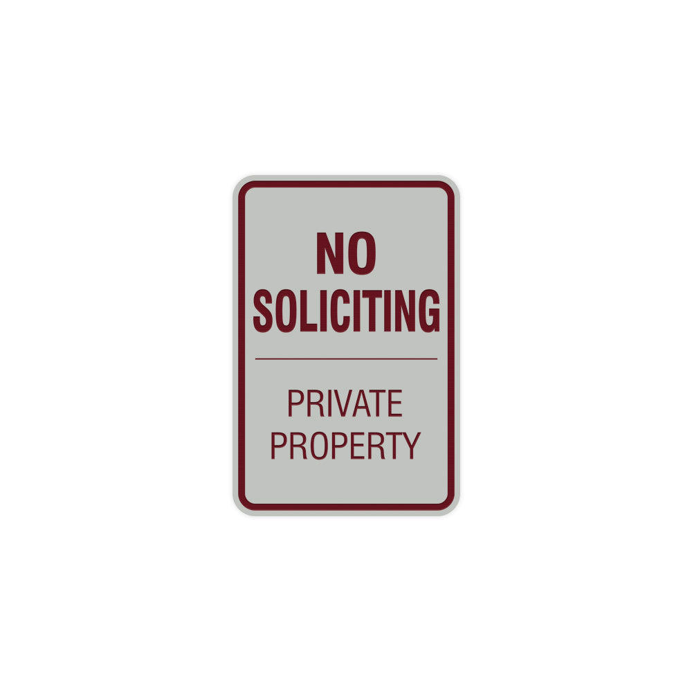 Portrait Round No Soliciting Private Property Sign