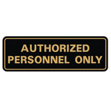 Standard Authorized Personnel Only Sign