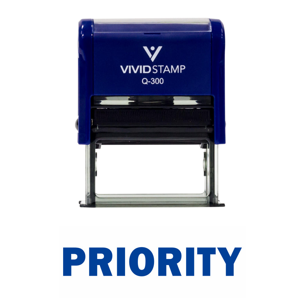 Priority Self Inking Rubber Stamp