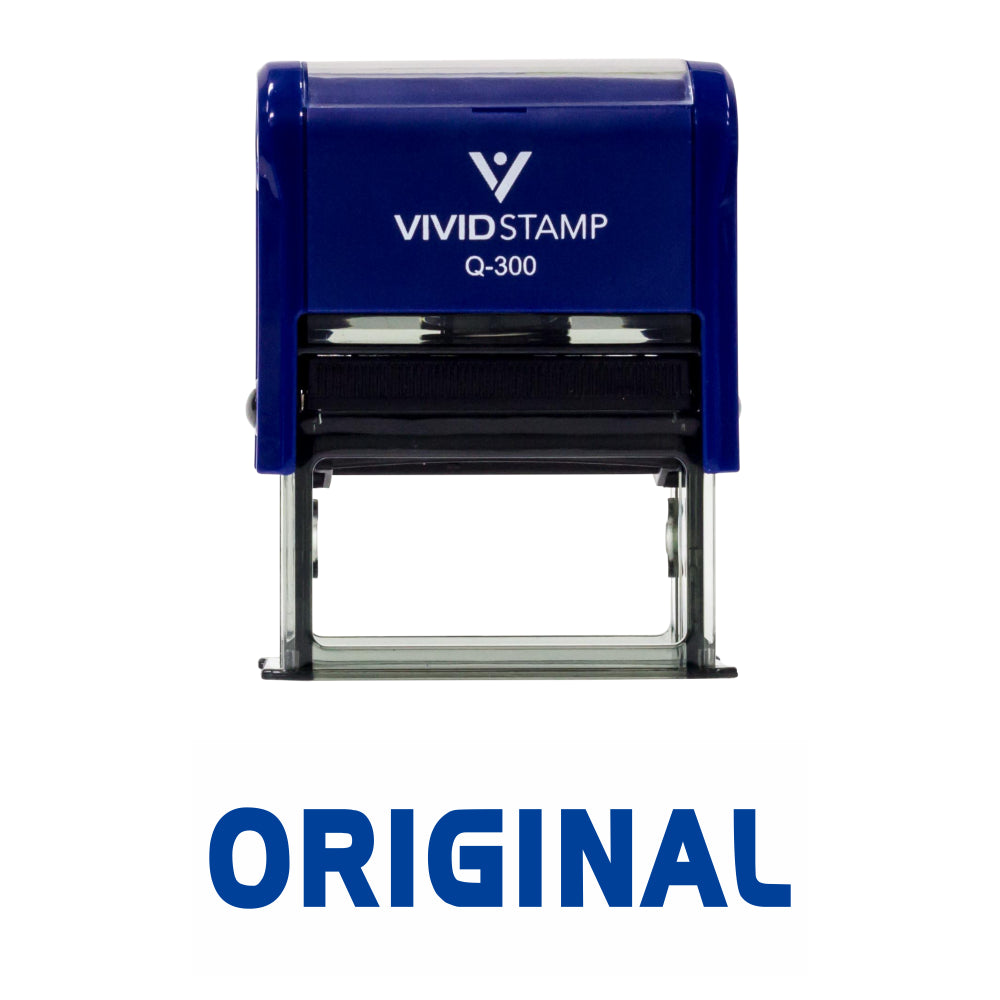 Original Self Inking Rubber Stamp
